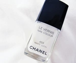chanel, white, and nails image