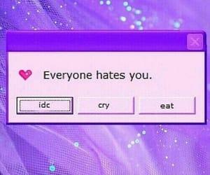 purple, tumblr, and hate image