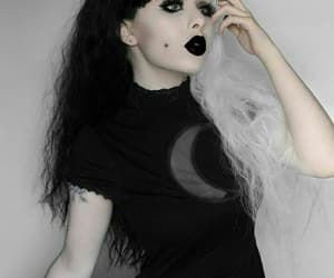 beauty, gothic girl, and black and white image