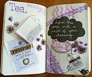 tea, book, and ideas image