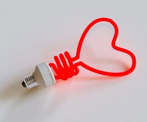 red and heart image