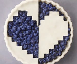 blueberries, heart, and pie image