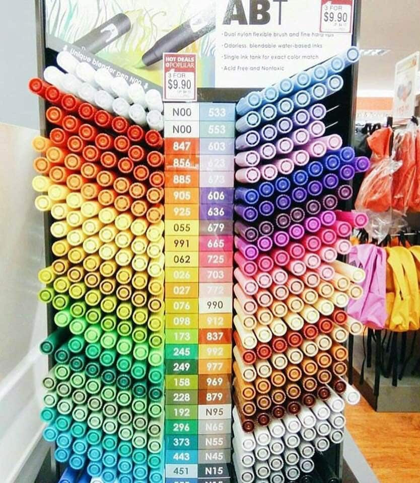 art, colorful, and pens image