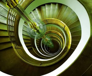 spiral, staircase, and stairway image