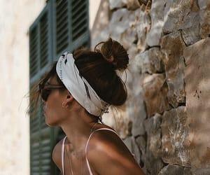 bandana, bikini, and girl image