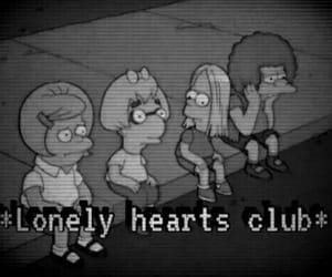 lonely, grunge, and black and white image