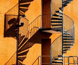 facade, orange, and spiral image