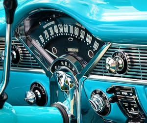 blue, cars, and retro image