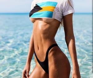 beach, bikini, and swimsuit image