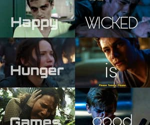 newt, thomas, and hunger games image
