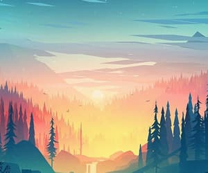wallpaper, background, and sunset image