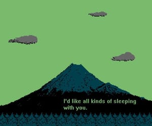 green, quotes, and pixel image