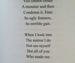 quotes, monster, and mirror image