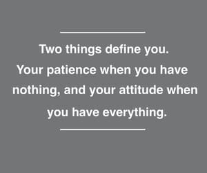 attitude, patience, and philosophy image