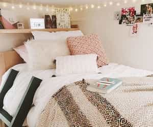 bedroom, book, and fairy lights image