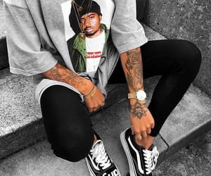 supreme, tattoo, and vans image
