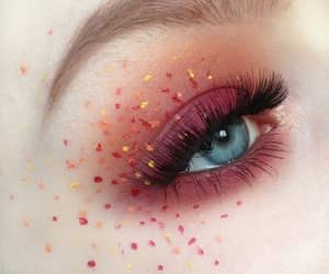 makeup, eye, and girl image