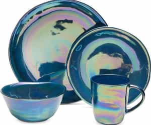 cobalt blue, place setting, and plate image