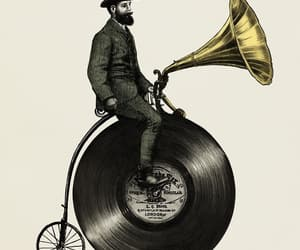 music, art, and vintage image