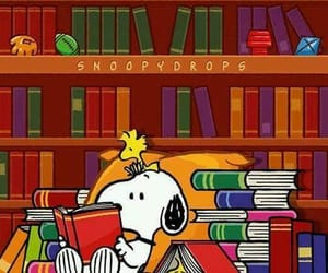 books, reading, and snoopy image