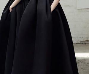 beautiful, black dress, and dress image