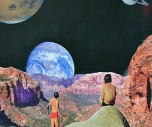 space, Collage, and planet image