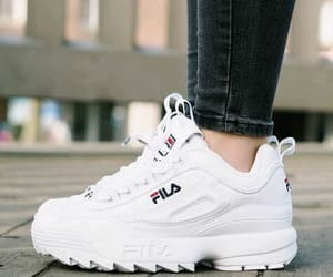 Fila, shoes, and white image