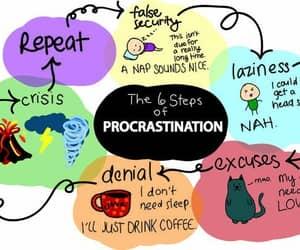 procrastination, cat, and funny image