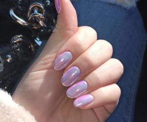 nails, purple, and winter image