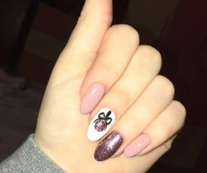 christmas, glow, and nails image
