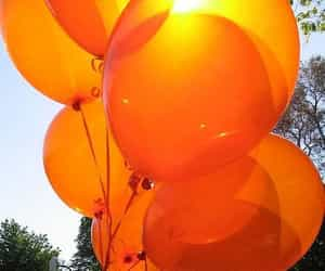orange, balloons, and aesthetic image