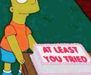 cake, funny, and simpsons image