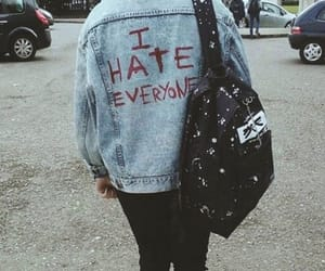 grunge, hate, and blue hair image