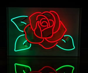 alternative, neon, and rose image