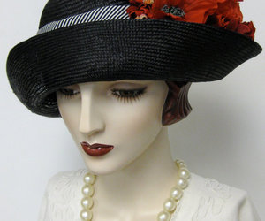 black, hat, and millinery image