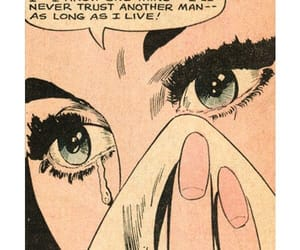 crying, pop art, and crying girl image