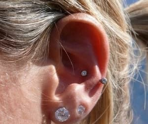 ear, earrings, and lobe image