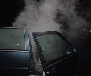 smoke, car, and weed image