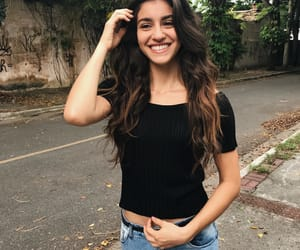 beautiful girl, beauty, and black clothes image