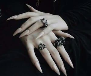nails, witch, and black image