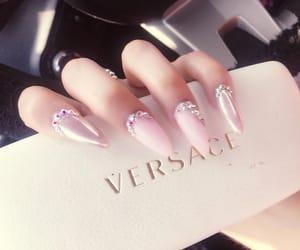 girly, manicure, and pink nail polish image