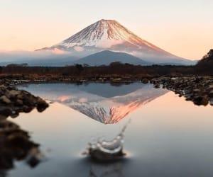 lake, mountains, and mirror image