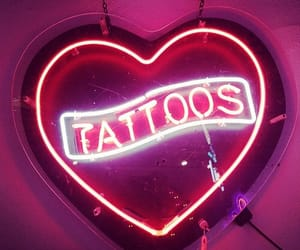 tattoo, heart, and neon image