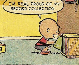 music, charlie brown, and record image