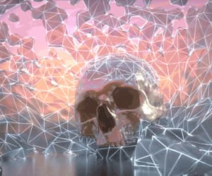 skull, gif, and pastel image