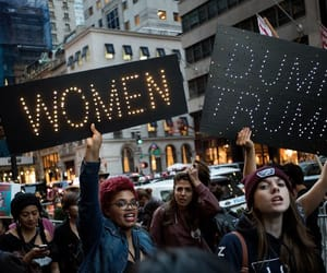 feminism, march, and woman image