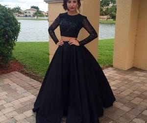 black, dress, and Prom image