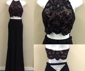 amazing, Prom, and black prom dress image