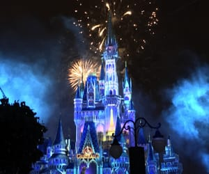 blue, disney castle, and disney world image