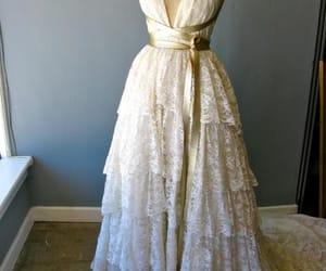 wedding dress, bridal dress, and lace wedding dress image